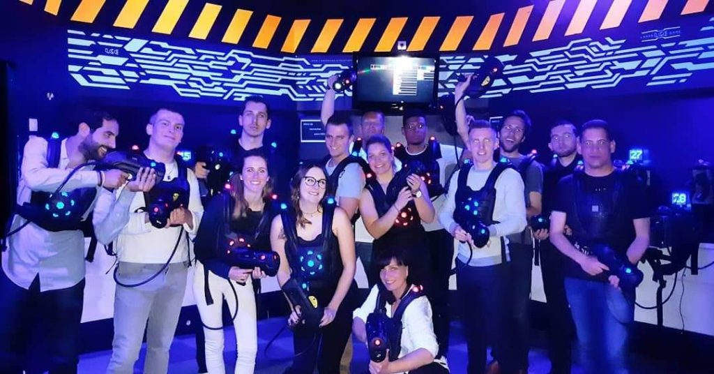Une fine équipe Yepngo au laser game